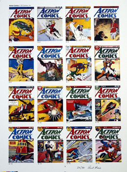 FIVE PUBLISHER'S PROOF PAGES: Photo-Journal Guide to Comic Books - Action Comics 1 - 107 (Signed) (Limited Edition)